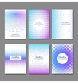 Dotted flyer deisgn template Brochure cover book vector image