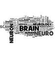neuro word cloud concept vector image