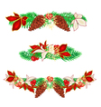 Christmas decoration garlands with pine cones vector image