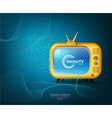 TV yellow on a blue background vector image