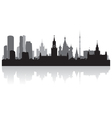 Moscow city skyline silhouette vector image vector image