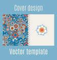 cover design with blue floral background vector image