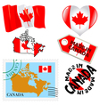 national colours of Canada vector image
