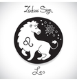 Leo zodiac sign of horoscope circle emblem in vector image