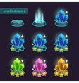 Crystal level pointers vector image