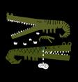crocodiles family vector image vector image
