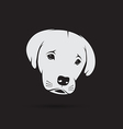 image of an labrador puppy face vector image vector image