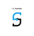 Creative S- letter icon abstract logo design vector image