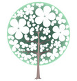 blooming tree spring vector image