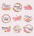 bright sign flower shop vector image