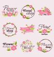 bright sign flower shop vector image