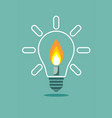 candle on light bulb vector image