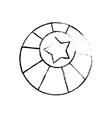 circus ball star vector image