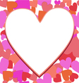 frame heart vector image