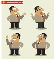 President emotions in poses vector image