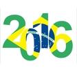 Rio 2016 brazil text vector image