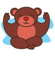 Yoga Bear vector image