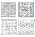 Small mazes vector image