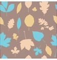 Autumn different leaves seamless pattern vector image