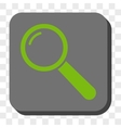 Magnifier Rounded Square Button vector image