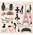 Set for fashion or retail design - Effel Tower vector image vector image