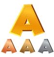 copper letters vector image