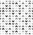Tile pattern with grey and black arrows on white vector image vector image