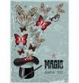 Magicians hat vector image vector image