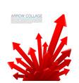 arrow explosion red vector image