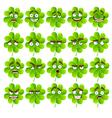 Cute cartoon four leaf clover vector image