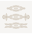 Frame with Place for Text Vintage Linear Frame vector image