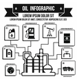 Oil Industry Infographic simple style vector image