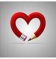 Pencil heart vector image