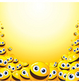 Smiley backdrop vector image
