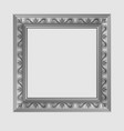 square decorative frame vector image