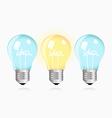 Two ordinary ideas and one creative idea vector image