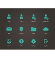 User Account icons vector image