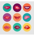 Women Lips Set vector image