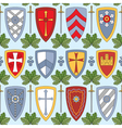 seamless pattern with knightly shields vector image vector image