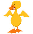 cute duckling animal character vector image