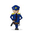 Profession police man cartoon figure vector image vector image