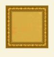 golden square frame vector image