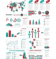 INFOGRAPHIC DEMOGRAPHICS WEB ELEMENTS RED vector image vector image