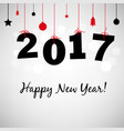 happy new years card 2017 vector image vector image