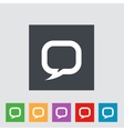 Flat icon of dialog vector image vector image