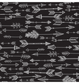 arrows seamless pattern black vector image