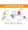 World map infographic 3D map concept with vector image vector image