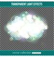 Bokeh lights over transparent background Bokeh vector image