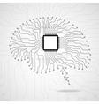 Brain Cpu Circuit board vector image