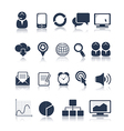 Business and media icons vector image